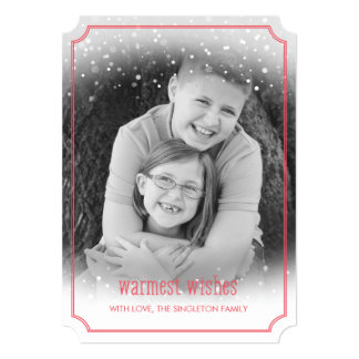 Snow Fall Warmest Wishes Holiday Photo Card