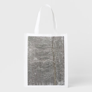 Snow Falling Grocery Bag