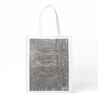 Snow Falling Grocery Bags