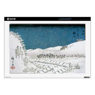 Snow Falling Japanese Fine Art Laptop Skins