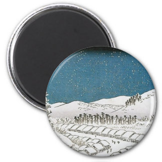 Snow Falling on a Town, Japan circa 1851-52 2 Inch Round Magnet