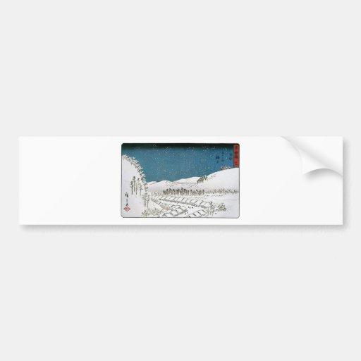 Snow Falling on a Town, Japan circa 1851-52 Bumper Sticker