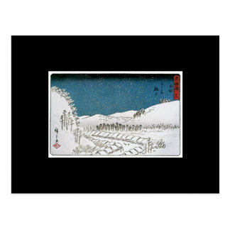 Snow Falling on a Town, Japan circa 1851-52 Postcard