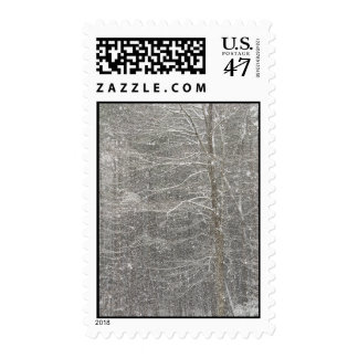 Snow Falling Postage Stamp