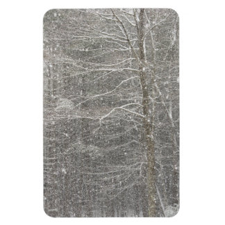 Snow Falling Rectangular Photo Magnet