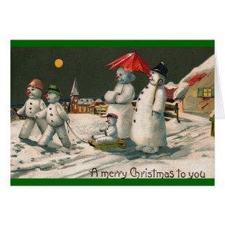 snow family card