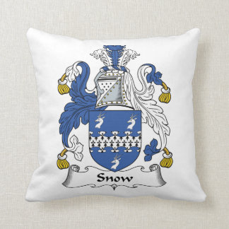 Snow Family Crest Throw Pillow