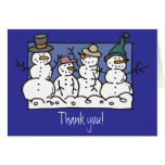 Snow Family Greeting Cards