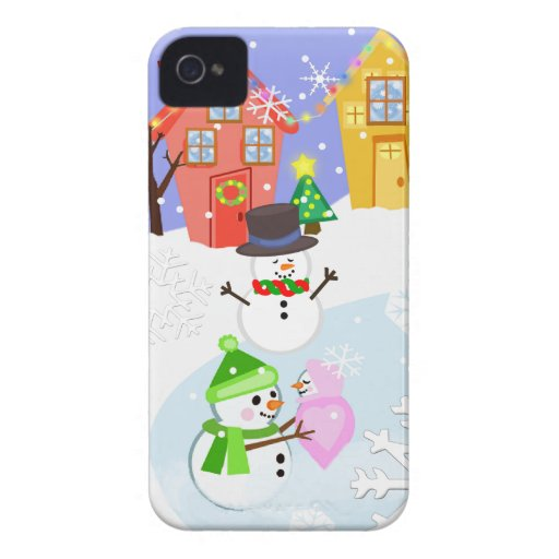 Snow Family Snow Day BlackBerry Barely There Case Blackberry Bold Cases
