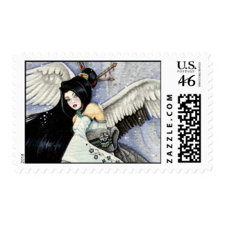 Snow Feathers Postage Stamp