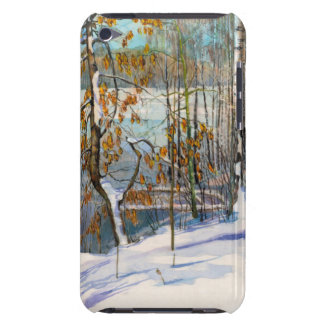 Snow fell barely there iPod case