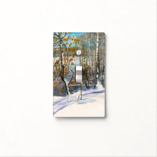 Snow fell light switch cover