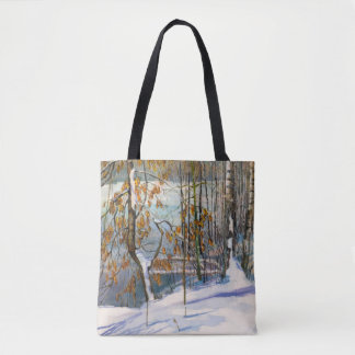 Snow fell tote bag