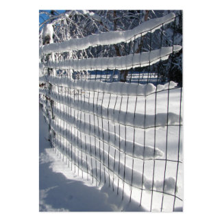 Snow Fence ~ ATC Large Business Card