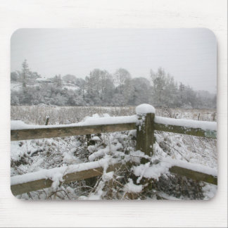 Snow Fence Mouse Pad