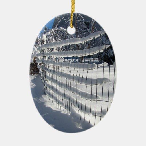 Snow Fence ~ ornament