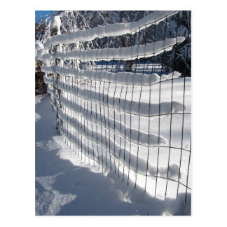 Snow Fence ~ postcard