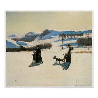 Snow Fields, 1909 Rockwell Kent Poster