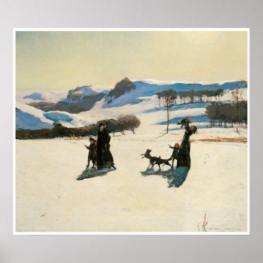 Snow Fields, 1909 Rockwell Kent Poster
