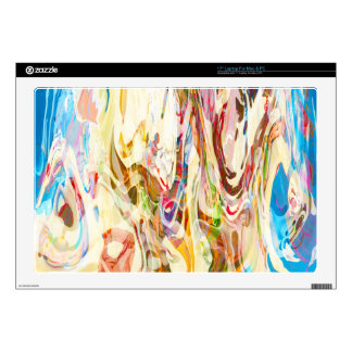 "Snow fight vibrant abstract 17"" laptop decal"