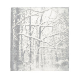 Snow Filled Trees Painting Notepad