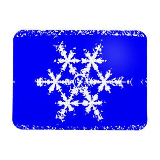 "Snow Flake 3""x4"" Magnet"