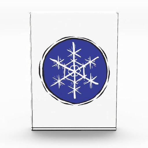 Snow Flake Acrylic Award