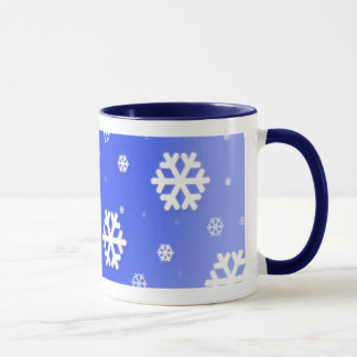 Snow Flake Blue Mug