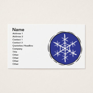 Snow Flake Business Card