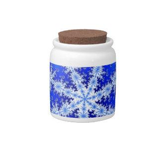 Snow Flake Candy Jar