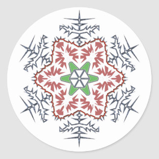 Snow flake classic round sticker