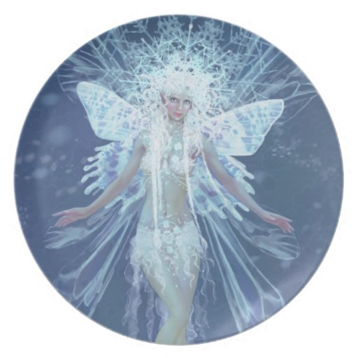 Snow Flake Fairy Queen Party Plates