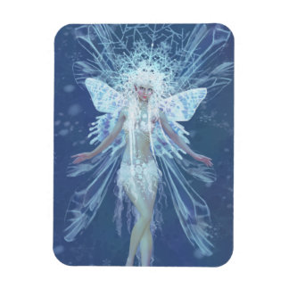 Snow Flake Fairy Queen Rectangular Magnet
