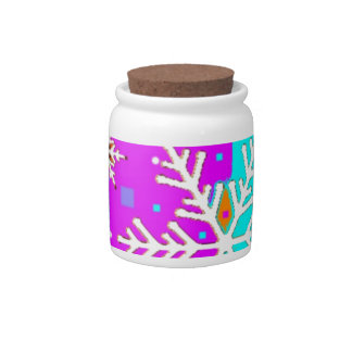 Snow Flake holiday's by Sharles Candy Jars