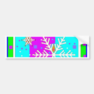 Snow Flake holiday's by Sharles Car Bumper Sticker