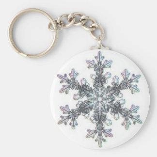 Snow flake keychain
