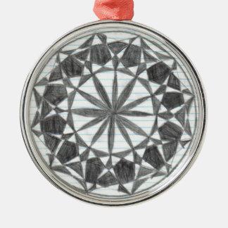Snow flake metal ornament
