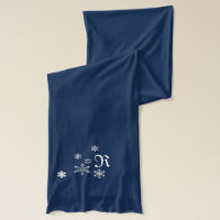 Snow flake monogram scarf