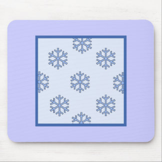 Snow Flake Mouse Pad