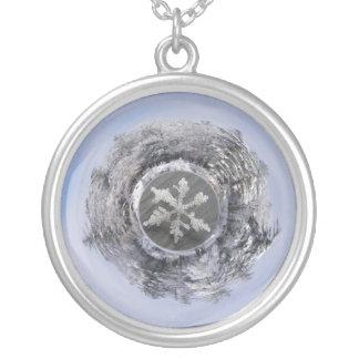 Snow Flake Planetoid ~ necklace