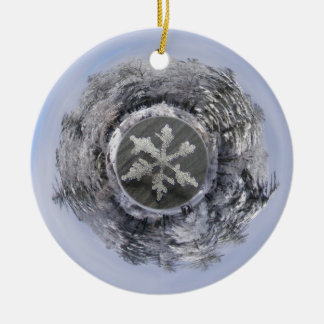 Snow Flake Planetoid ~ ornament