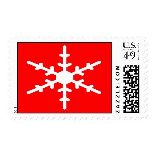 Snow Flake Postage Stamp