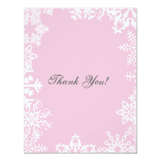 Snow Flake Thank You Flat Card
