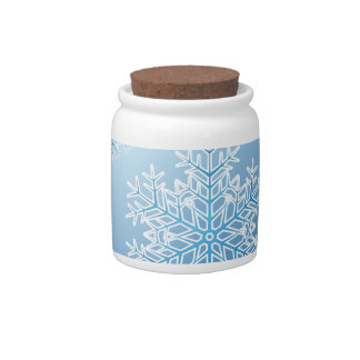 Snow Flakes 3 Candy Jars