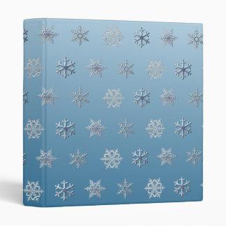Snow Flakes 3 Ring Binder