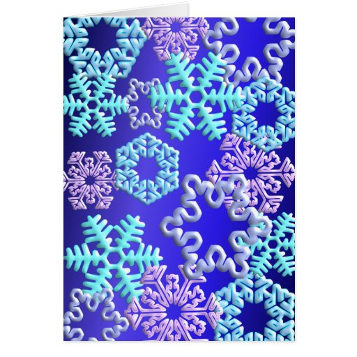 Snow Flakes 3D Pattern Design2 Cards