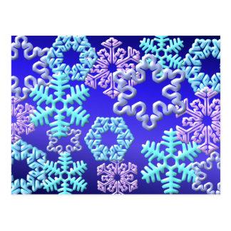 Snow Flakes 3D Pattern Design2 Postcard