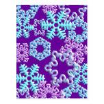 Snow Flakes 3D Pattern Design2 Postcards