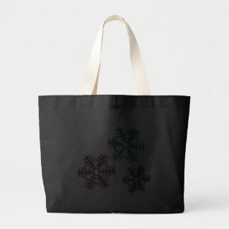 Snow Flakes 3D Pattern Design Tote Bags