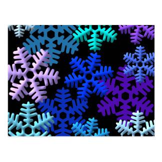 Snow Flakes 3D Pattern Design Postcard